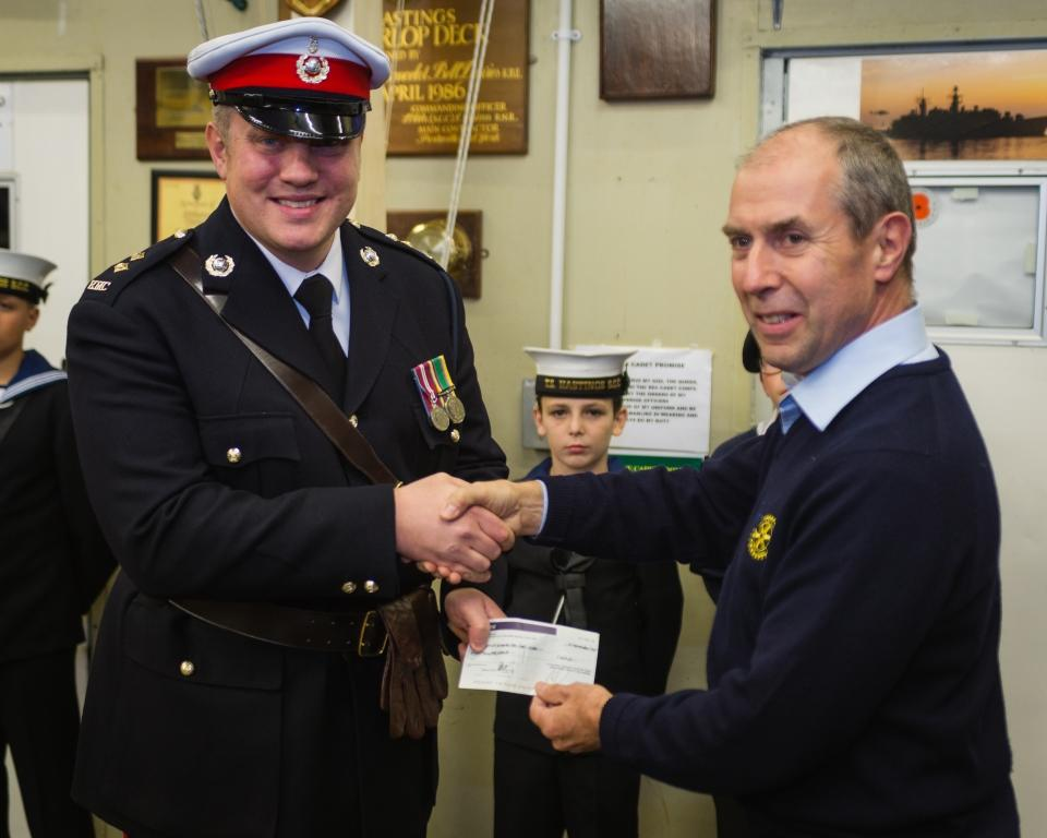 Local Youth Organisations Receive Donations - Sea cadets
