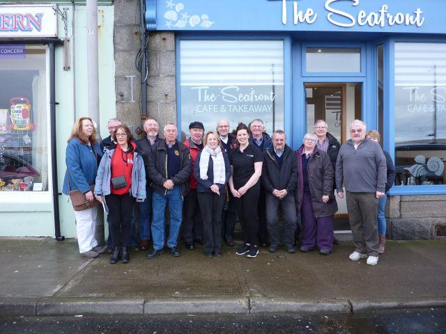 Fellowship - Breakast meeting at Seafront Cafe and then Macduff Shipyards