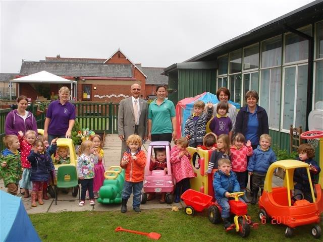 Our club helped with purchase of some sensory equipment for a local nursery.