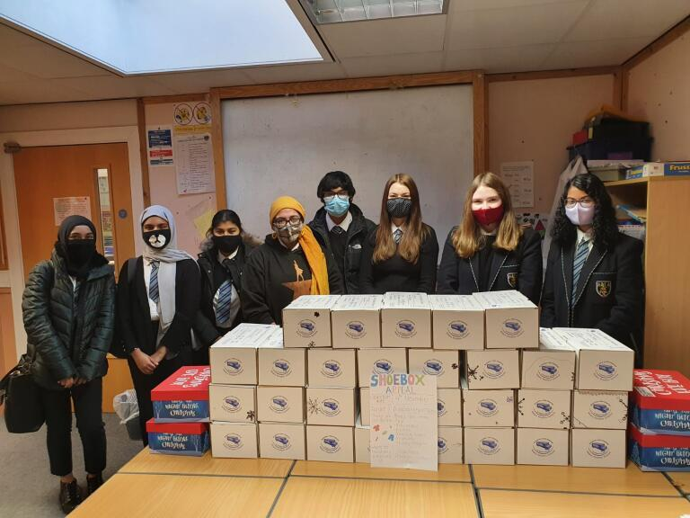 Rotary Shoeboxes - Morgan Academy Pupils and their Shoeboxes