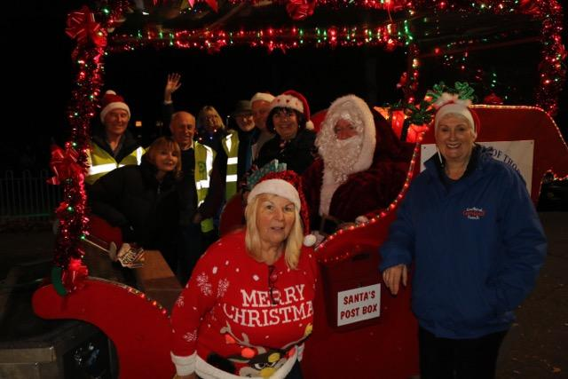2016 Sleigh raised over £6000 to be distributed amongst local Charities