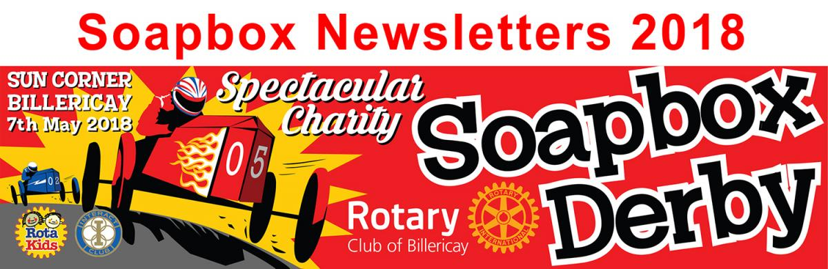 Soapbox Derby Newsletters for 2018