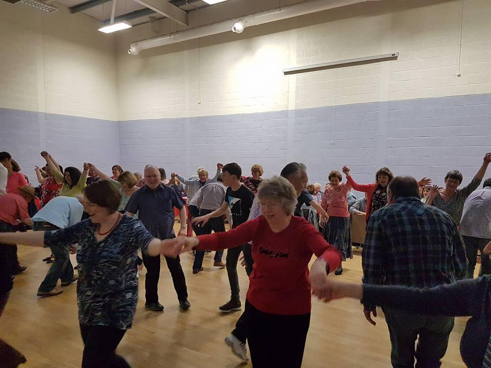 The barn dance was a lively, fun evening