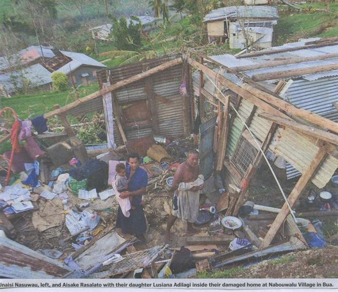 PhysioNet a Yorkshire Charity responds to Fiji hurricane - Some damage