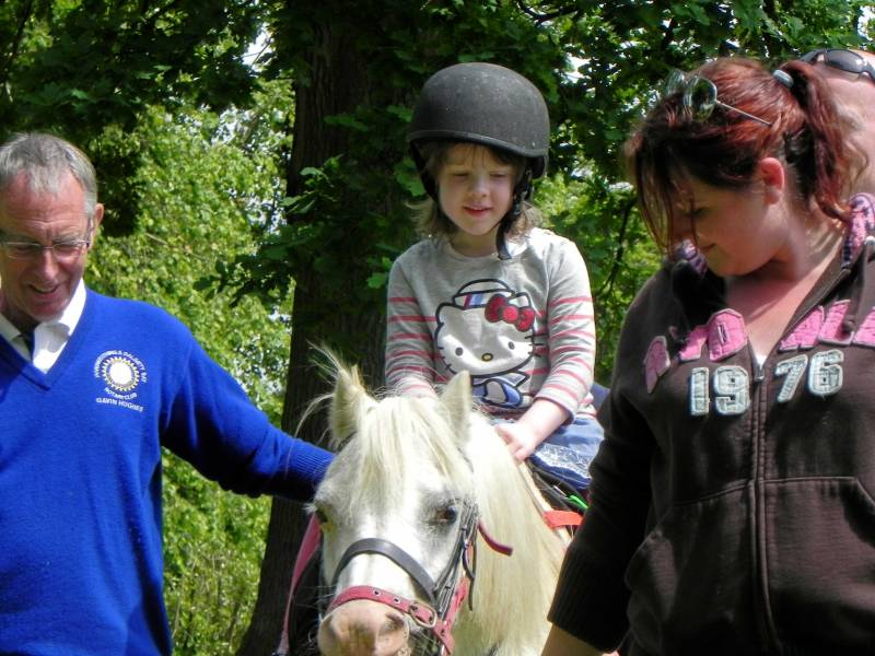 Kids Out - Sophie enjoys her first ever pony ride.