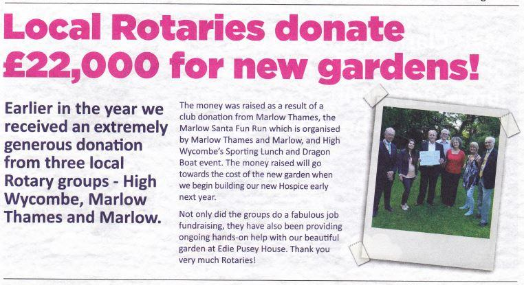 Gardening at Pusey House - From South Bucks Hospice web-site