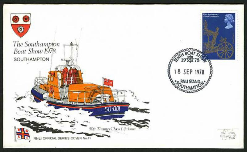 "The Rotary Life Boat ""Rotary Service"" - First Day Cover Honouring the Launch of the Lifeboat donated by Rotary - September 1978"