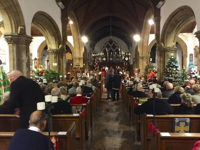 St Faiths Church was looking superb with the Christmas tree festival- how many heads can you spot?