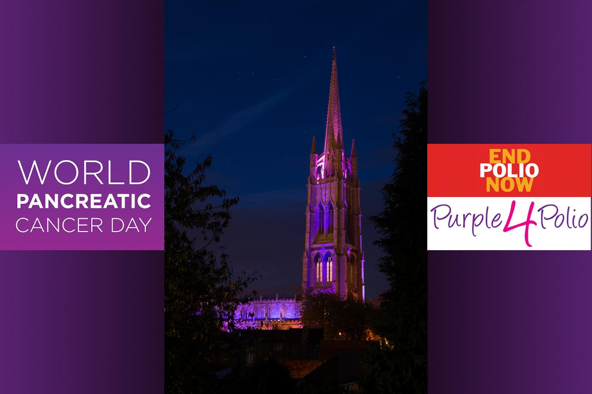 St James turns Purple for Purple4Polio and Pancreatic Cancer Awareness Month