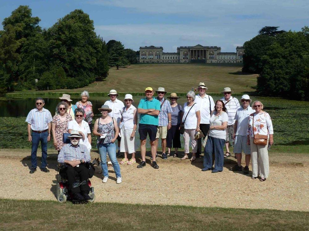 Members, family & friends on Walk at Stowe Gardens
