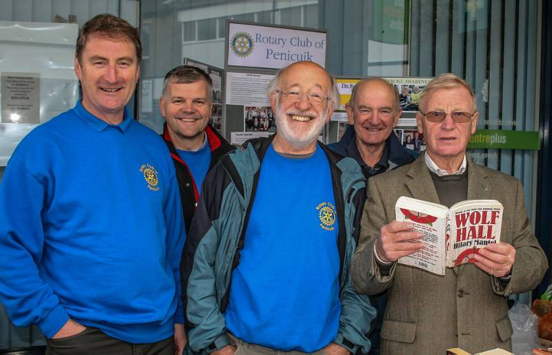 Rotary at Street Fair in Penicuik - Members of the club having a good time at the Street Fair.