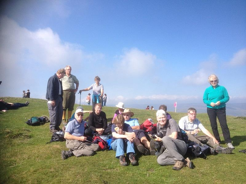 Derbyshire 2015 - Lunch on the summit of Mam Tor