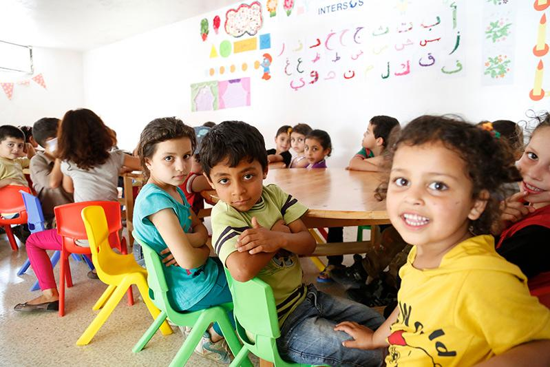 Syrian children in the Lebanon