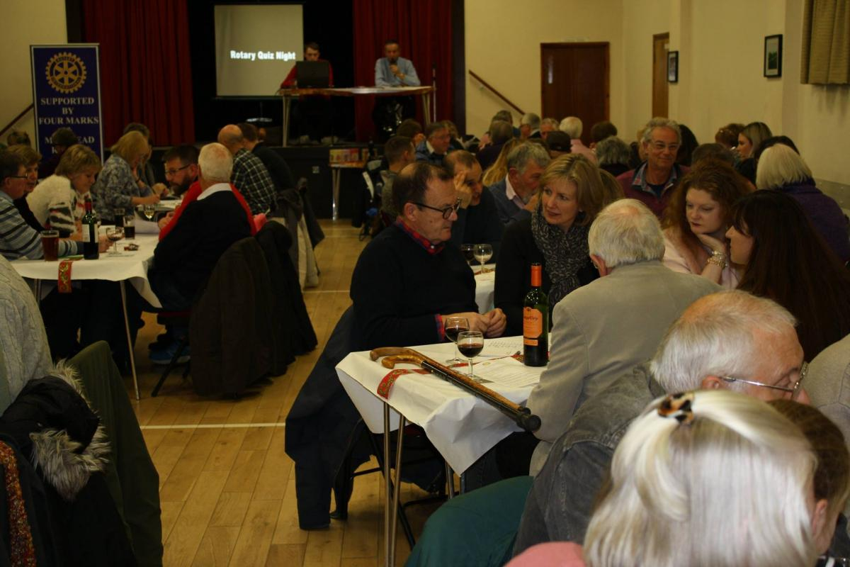Quiz Night at Medstead Village Hall - Busy quiz teams