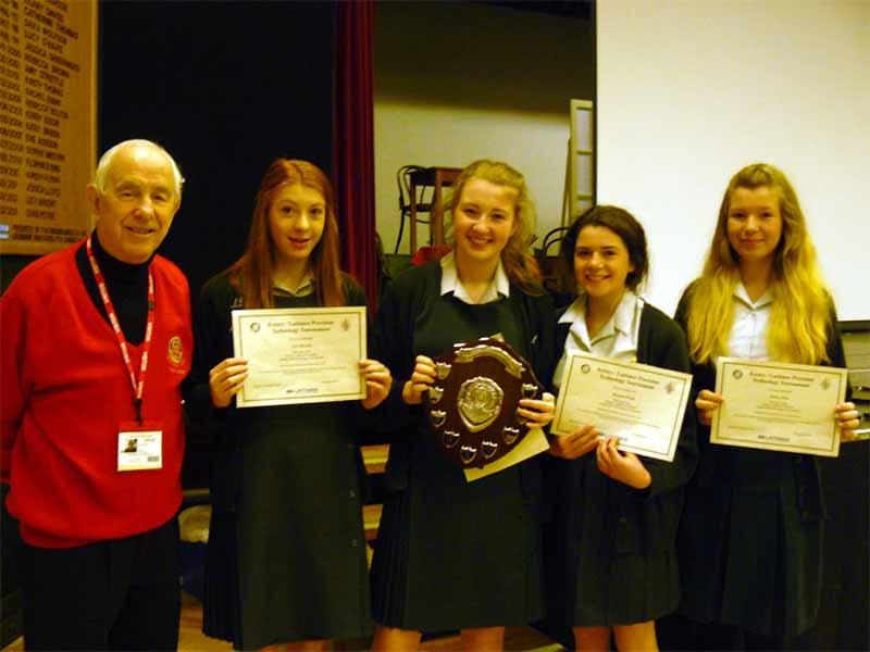 Technology Tournament 2014 - Rotarian Ted Mason with the winning team from Greenbank Year 9
