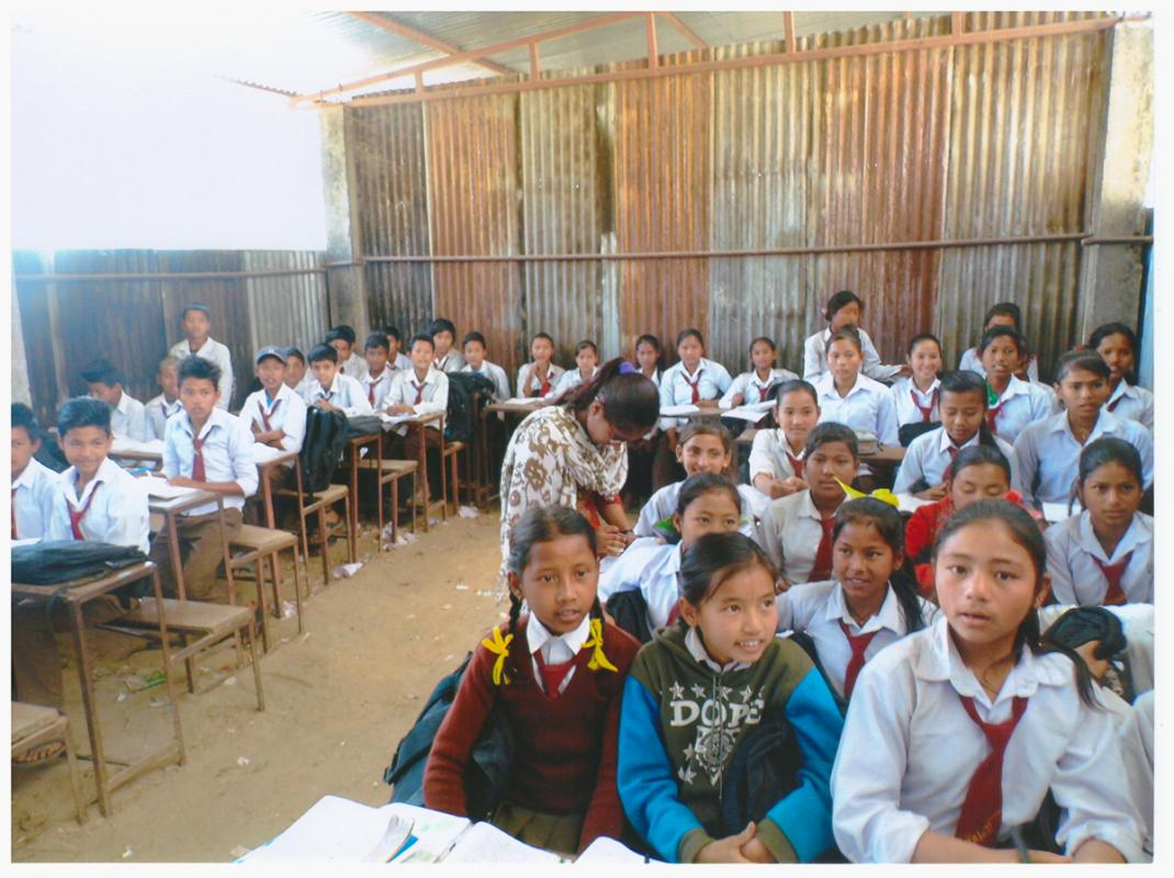 Nepalese Earthquake - Rebuilding - Temporary Classroom