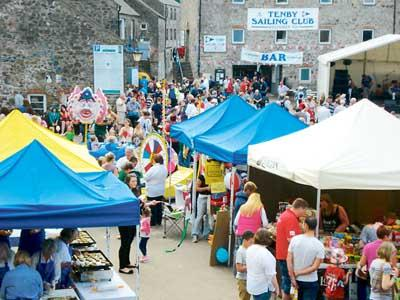 The scene at one of the Rotary Club of Tenby's Family Fun Harbour Spectaculars in 2012