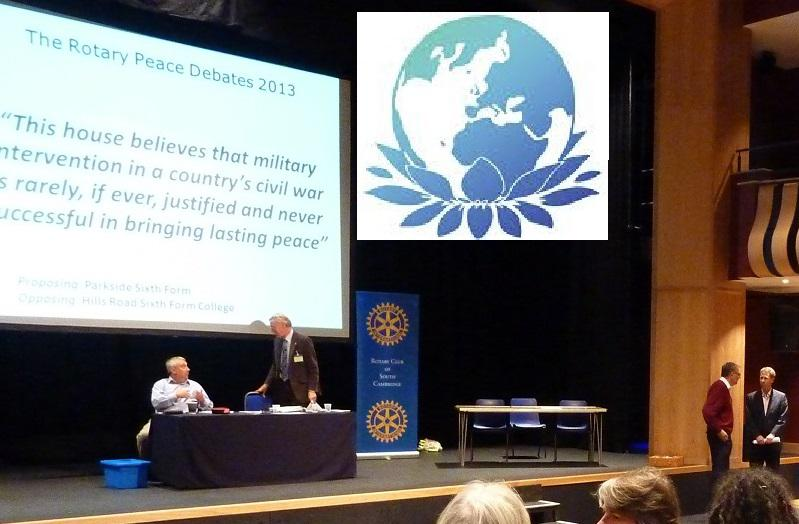 Sep 2014 Public Peace Debates - Everyone Welcome - the Leys School 4pm - Peace Debates