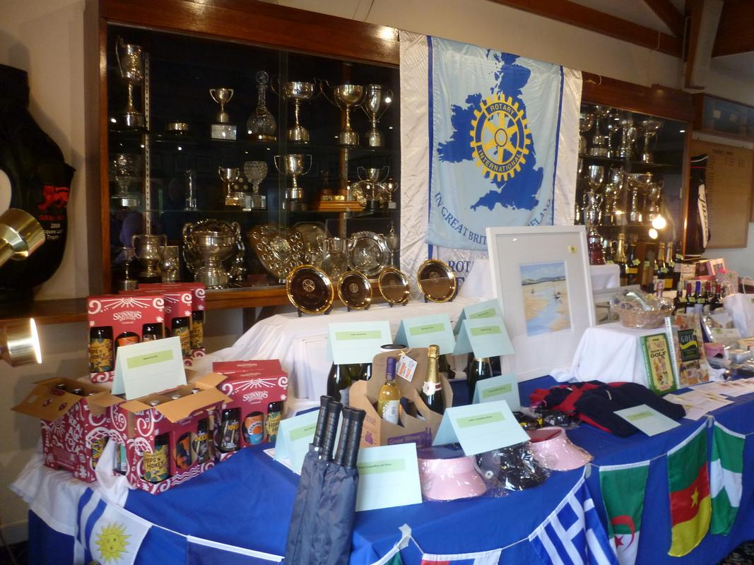 Prize display at the start of the day