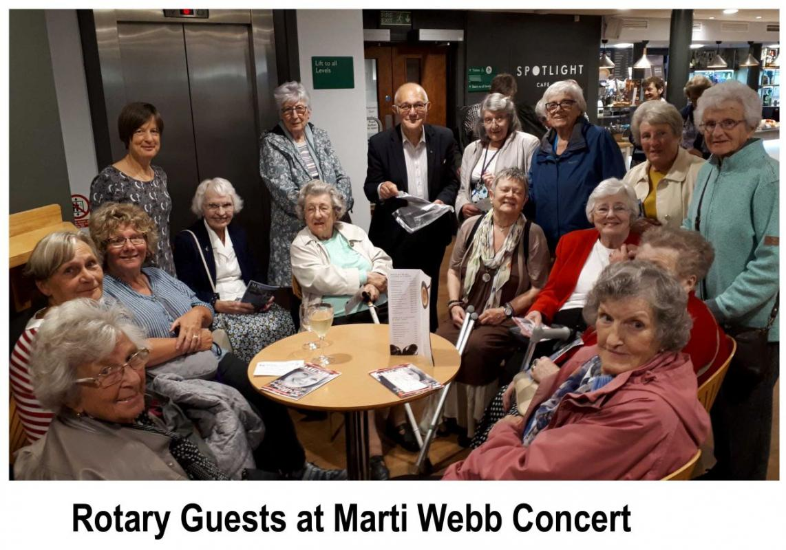 Friends of Keswick Rotary gather in the Theatre by the Lake for the Marti Webb concert