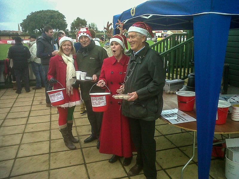 Christmas Appeal Tin Shake at the Rugby Club -