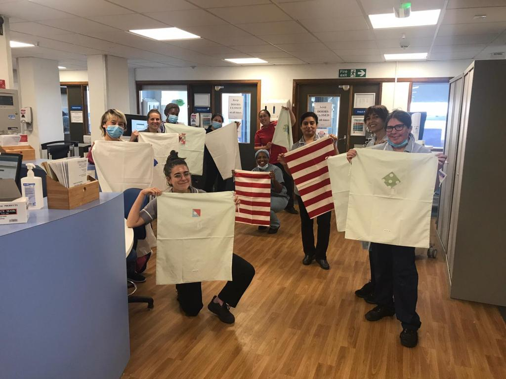 Laundry bags for Renal Unit St. George's Hospital Tooting -