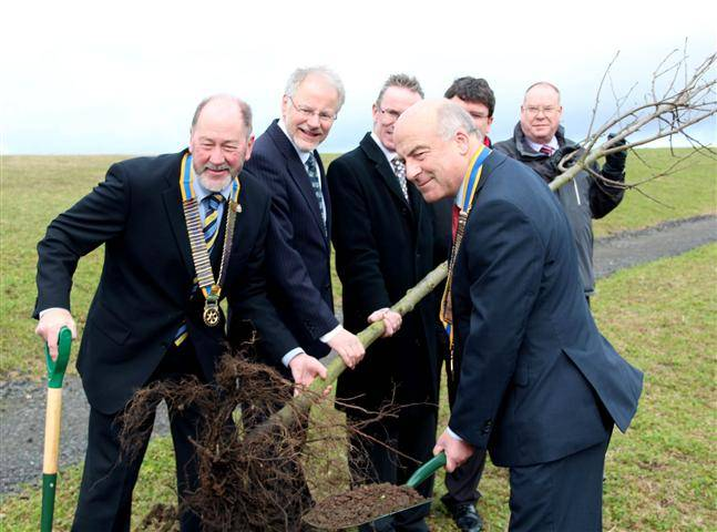 Rotary Day - the planting of an avenue of twenty trees in the newly created Riverside Nature Park.