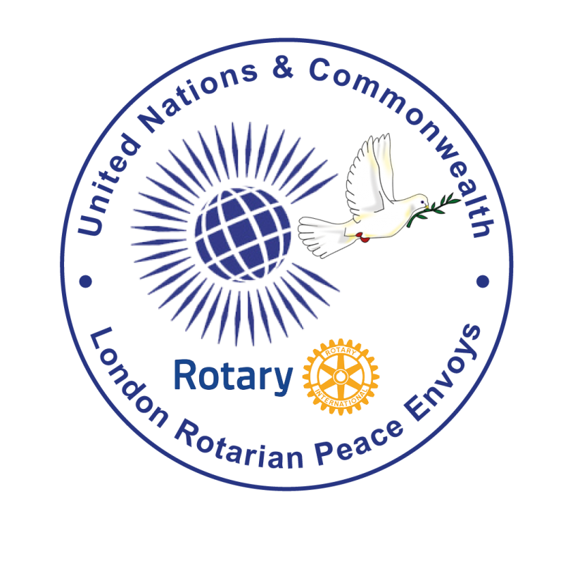 United Nations & Commonwealth London Rotarian Peace Envoy Logo