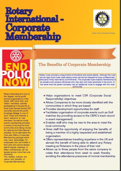 PR & Membership - Corporate Brochure