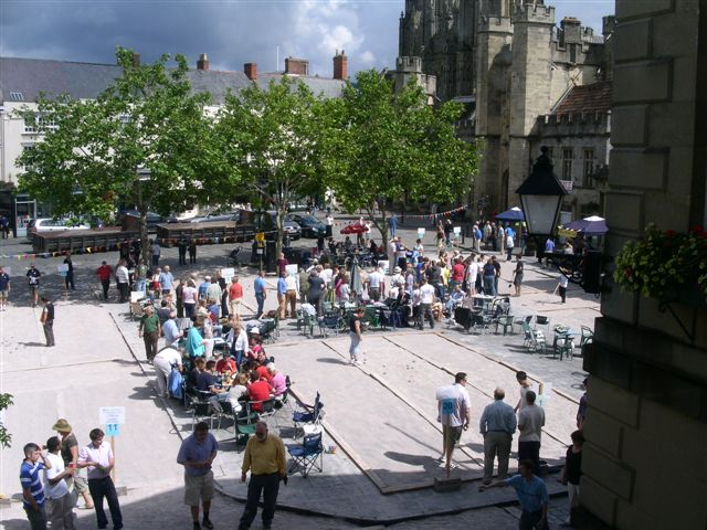 Wells Boules Tournament 2008 -  View from the Town Hall