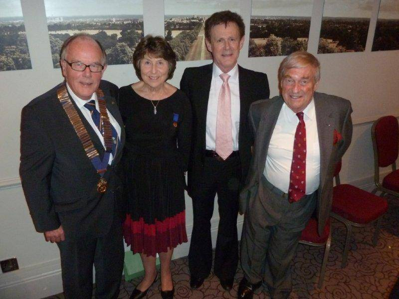 Windsor & Eton Opera Talk  - Picture shows  l to R  Adrian & Veronica Stabbins, David Thomas & John Handcock President of WEO