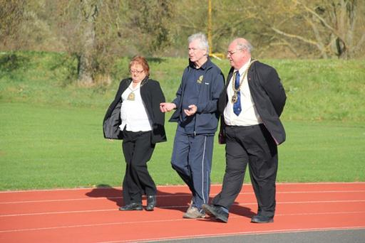 A Walk to End Polio  - The Mayor and Mayoress walking with President David.