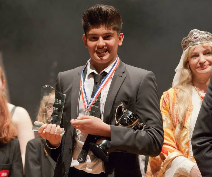 Coventry Schools Young Entertainer - The Winner of 2012 Young Entertainer, Reece Bahia from King Henry VIII
