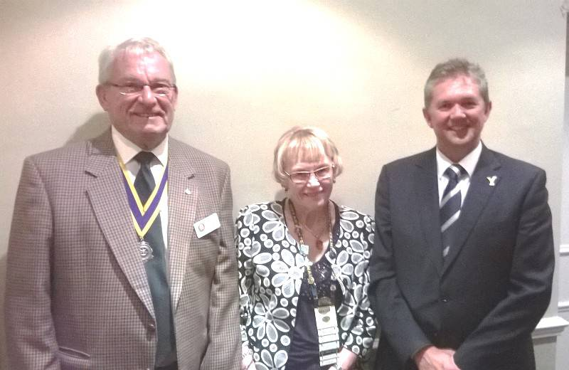 President Bill Braker, Mavis Martin from our twin Club - Unley, Adelaide and Mark Arthur, Chief Executive Officer, Yorkshire CCC