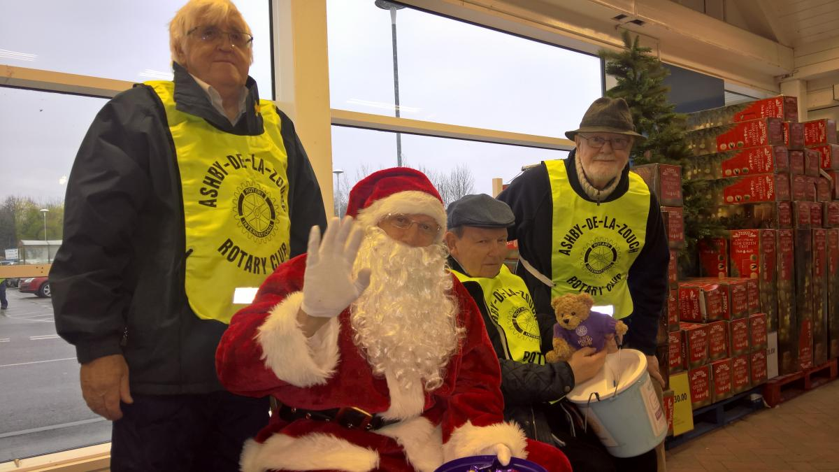 LOCAL CHARITIES RECEIVE ROTARY SANTA DONATIONS -