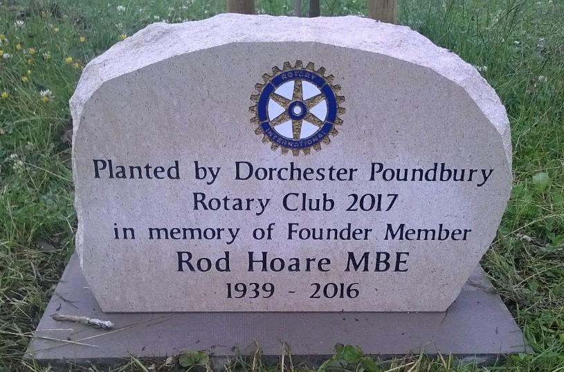 The memorial to Rod Hoare