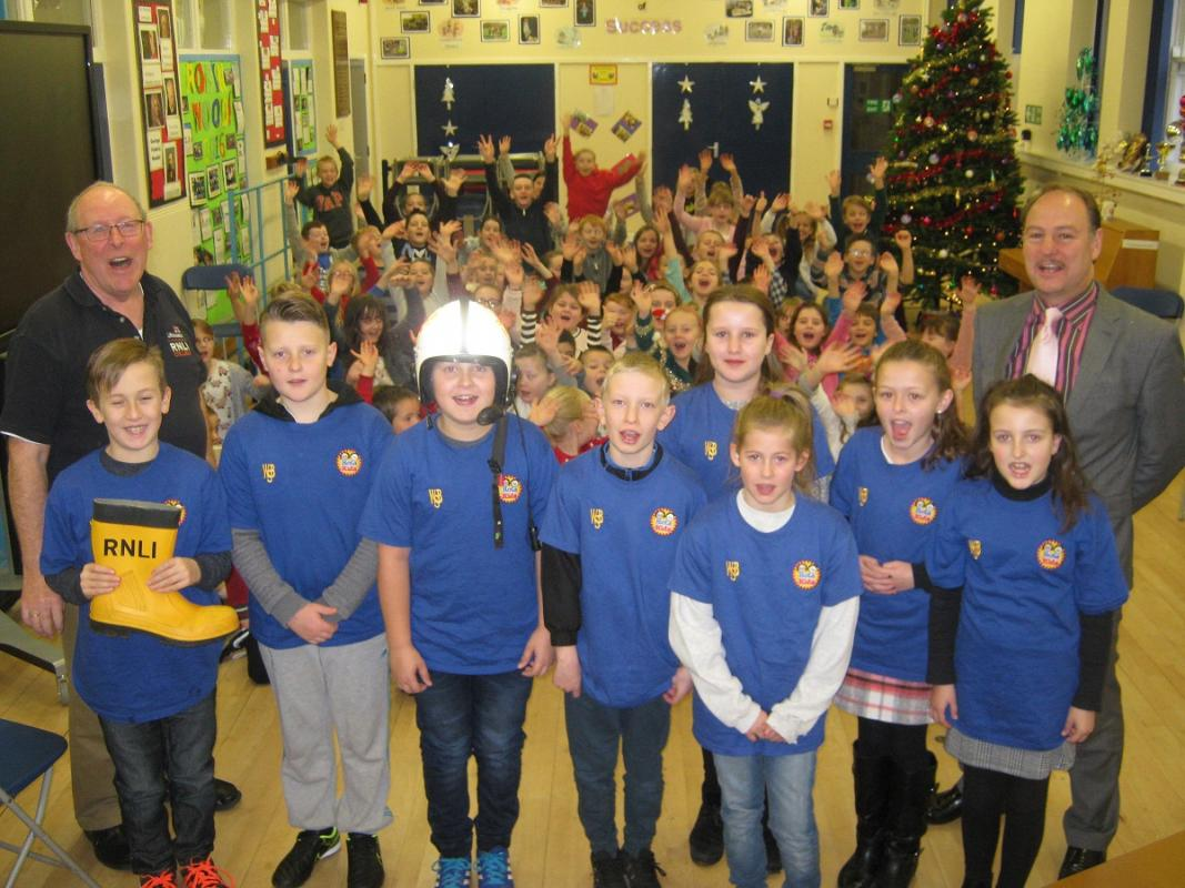 Warwick Bridge Rotakids - School Assembly with the RNLI