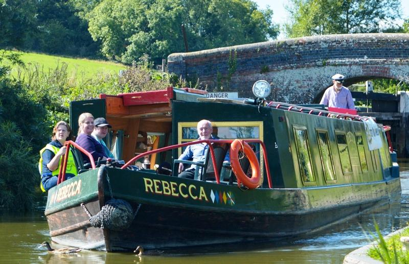 2015 Community Barge Trips - Rotarians and guests from Webcas enjoying a day out on the Kennet and Avon canal