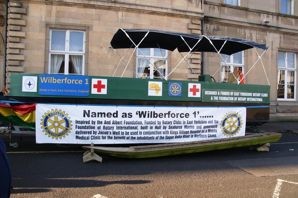 Mercy Boat Unveiled - Wilberforce 1