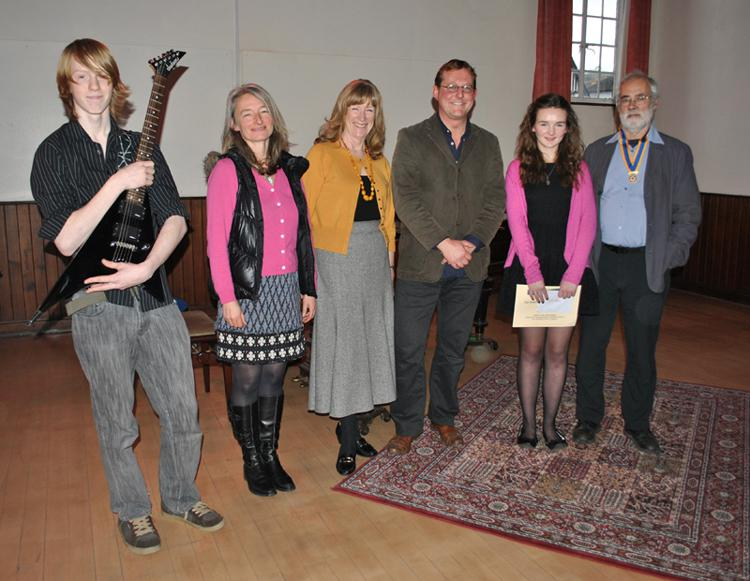 The winners and judges of our round of the Rotary Young Musician 2012.....
