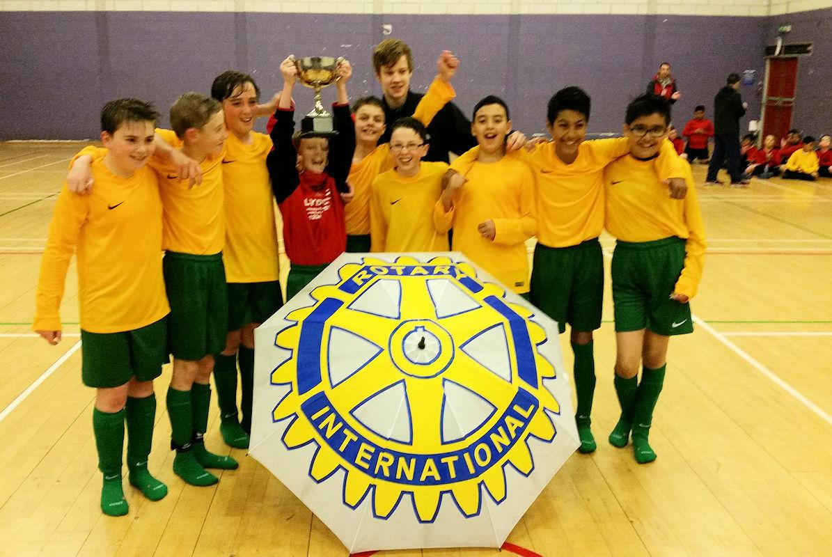 PRIMARY SCHOOLS FOOTBALL CUP COMPETITION - The Hyndland Primary School team who won this year's competition.