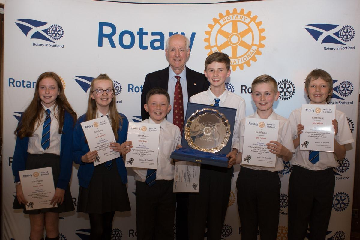 Primary Schools Quiz West of Scotland Final - The Winning Team from Houston Primary School