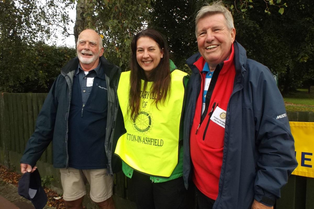 Wirksworth Rotarians first across the line in sponsored walk in aid of polio eradication