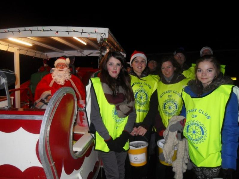 Father Christmas and some of his helpers