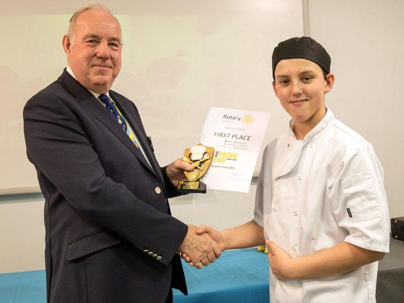 Local pupil from St Catherine's Academy wins Rotary Young Chef competition - Keiron McCormack wins through to area final at Kendal in March