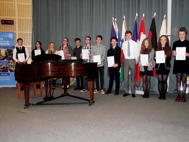 Young Musician of the Year 2015 and Festival of Youth Music Competitions 2015 - Some of the Contestants at the Area Final in February 2015