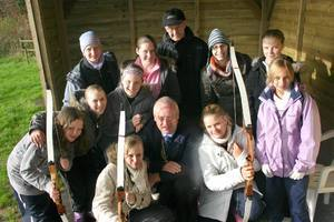 YOUNG CARERS WEEKEND CALVERT TRUST EXMOOR - Ron Jones, Chairman of Youth Activities ,Pres.David Hunt with the Young Carers