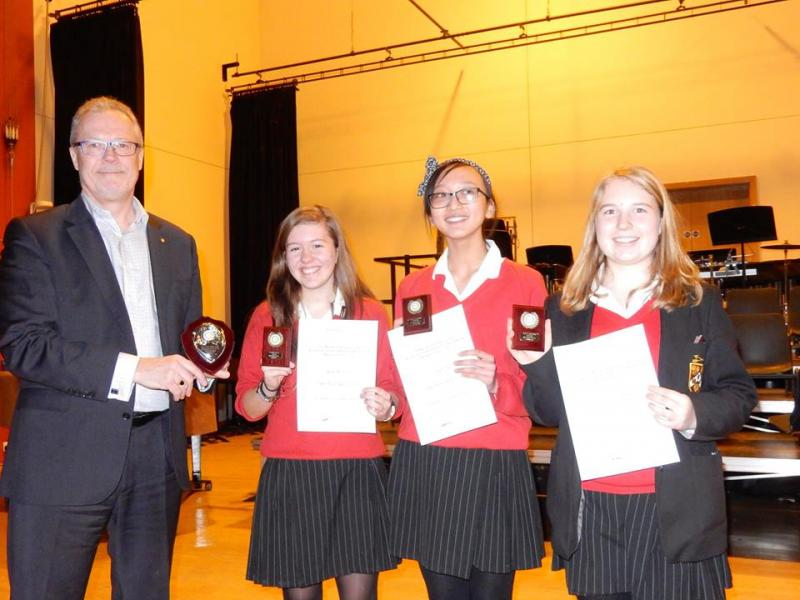 Youth Speaks Competition - Intermediate winners of the local round of the Youth Speaks Competition