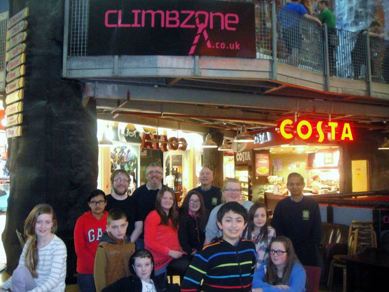 Young Carer Outings to Xscape - Getting ready for the Climbzone!