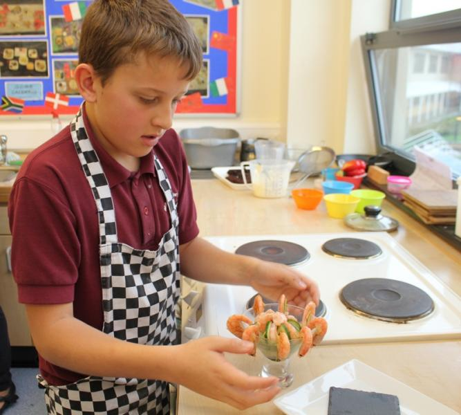 Young Chef at Richard Lander School 2015 - A picture of concentration!